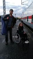 OMS:n pyörätuolimiekkailuosasto matkalla